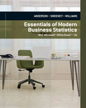 Buy: Test Bank for Essentials of Modern Business Statistics with Microsoft Excel 5e Anderson