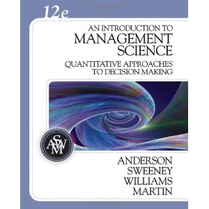Buy: Test Bank for An Introduction to Management Science Quantitative Approaches to Decision Making
