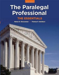 Test Bank for The Paralegal Professional: The Essentials, 3rd Edition, Thomas F. Goldman, ISBN-10: 0135064015, ISBN-13: 9780135064016