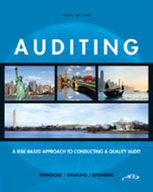 Buy: Test Bank (Download Only) for Auditing: A Risk-Based Approach to Conducting a Quality Audit