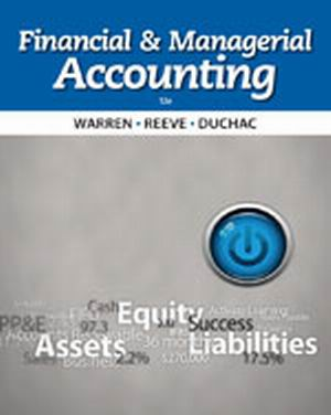 Buy: Test Bank for Financial & Managerial Accounting 12e Warren