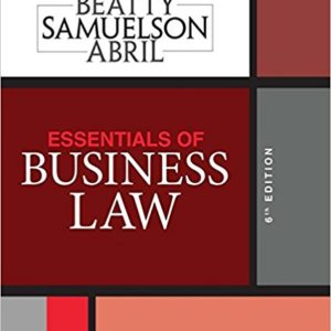 Solution Manual for Essentials of Business Law 6e Beatty