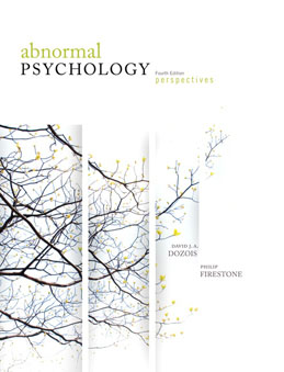 Test Bank for Abnormal Psychology Perspectives, 4th Canadian Edition, Dozois, ISBN-10: 013208001X, ISBN-13: 9780132080019