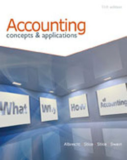 Test Bank for Accounting Concepts and Applications, 11th Edition, Albrecht, ISBN-10: 0538745487, ISBN-13: 9780538745482