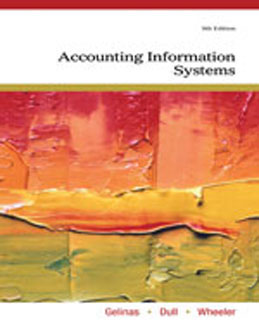 Test Bank for Accounting Information Systems, 9th Edition, Gelinas, ISBN-10: 0538469315, ISBN-13: 9780538469319
