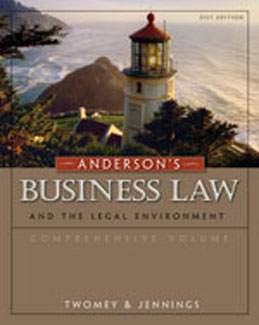 Test Bank for Andersons Business Law and the Legal Environment, 21st Edition, Twomey, ISBN-10: 0324786662, ISBN-13: 9780324786668