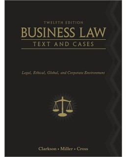 Buy: Test Bank for Business Law: Text and Cases