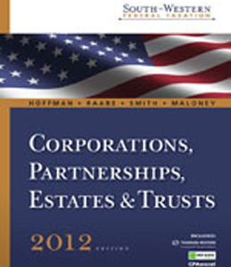 Buy: Test Bank for South Western Federal Taxation 2012 Corporations Partnerships Estates and Trusts