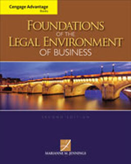 Buy: Test Bank for Foundations of the Legal Environment of Business