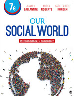 Test Bank for Our Social World Introduction to Sociology 7th Edition By Jeanne H. Ballantine, Keith A. Roberts, Kathleen Odell Korgen, ISBN: 9781544358475, ISBN: 9781544333533, ISBN: 9781544377414