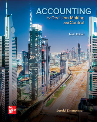 Test Bank for Accounting for Decision Making and Control 10/E Zimmerman