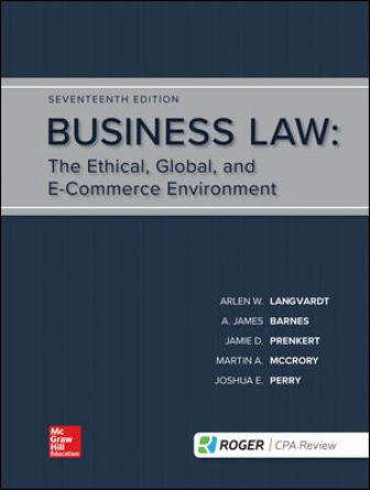 Test Bank for Business Law 17/E Langvardt