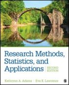 Test Bank for Research Methods Statistics and Applications 2/E Adams