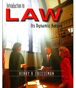 Solution Manual for Introduction to Law: Its Dynamic Nature, 1/e, Cheeseman