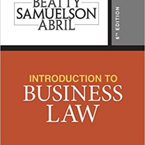 Test Bank for Introduction to Business Law 6th Edition Jeffrey F. Beatty