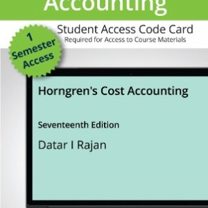 Test Bank for Horngren's Cost Accounting 17/E Datar
