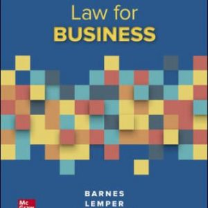 Solution Manual for Law for Business 14/E Barnes
