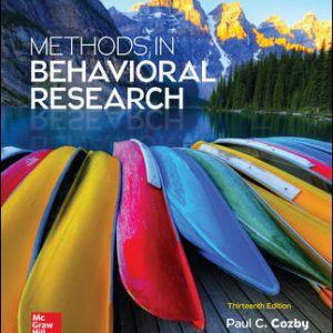 Test Bank for Methods in Behavioral Research 13/E Cozby