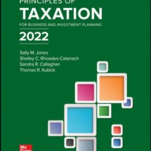 Test Bank for Principles of Taxation for Business and Investment Planning 2022 Edition 25/E Jones