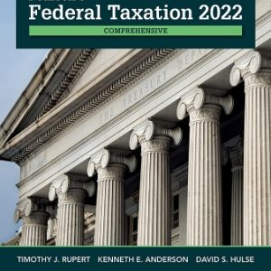 Test Bank for Pearson's Federal Taxation 2022 Comprehensive 35/E Rupert
