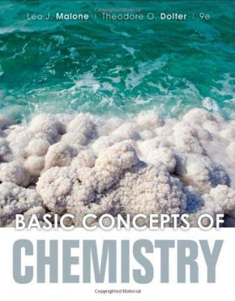 Test Bank for Basic Concepts of Chemistry 9/E Malone