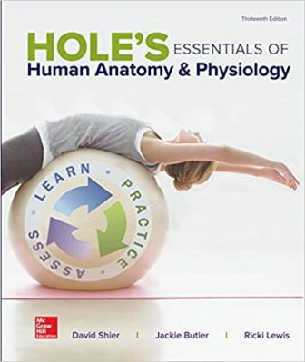 Test Bank for Hole's Essentials of Human Anatomy & Physiology 13/E Shier
