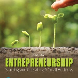 Solution Manual for Entrepreneurship: Starting and Operating A Small Business 5/E Glackin