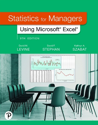 Solution Manual for Statistics for Managers Using Microsoft Excel 9/E Levine